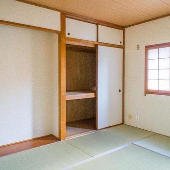 和室には床の間も付いています。※写真は107号室