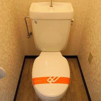 トイレもシンプルなデザイン。