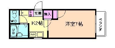 塚本9分アパート の間取り