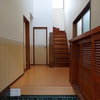 広い玄関も戸建の特徴ですよね