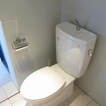 浴室内のスペースにトイレ。ですが広いです。
