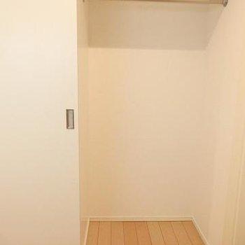 キッチン後ろにはこの収納がふたつ。※写真は別部屋