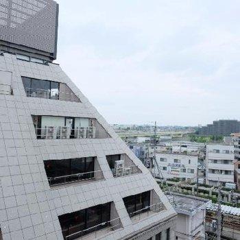 7階なので眺望は◎川が見えます