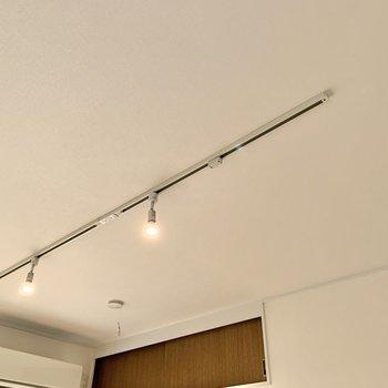 1階はライティングレール。お好きな照明を付けられますね。 ※写真は前回募集時のものです