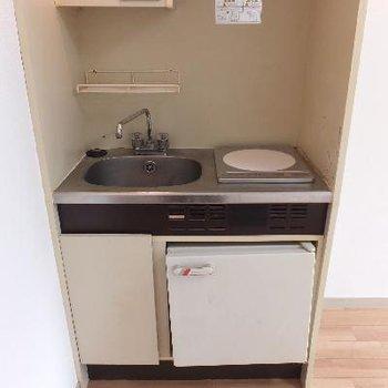 キッチンはIH1口コンロです。