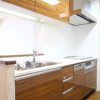 食洗機付きのキッチン、さすがのグレード。