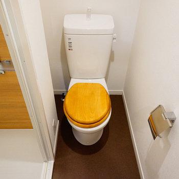 トイレには木製便座を♪※写真は前回募集時のお写真です