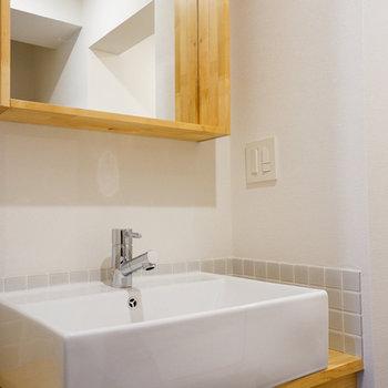 洗面台もお手製です♪※写真は前回募集時のお写真です