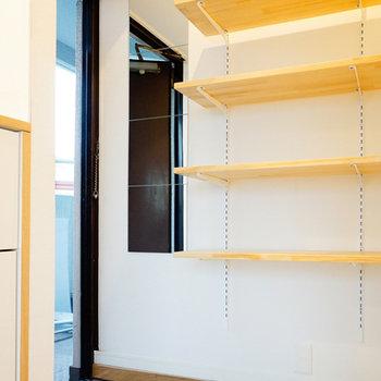 玄関棚は可動式なのでお好みの高さに♪※写真は前回募集時のお写真です