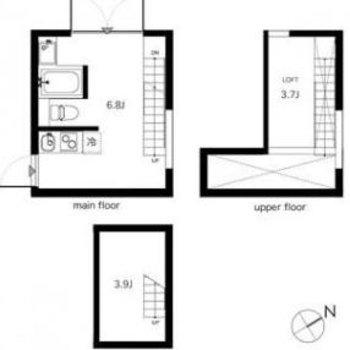 3層構造のお部屋。