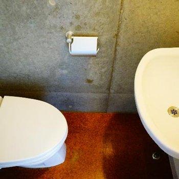 トイレは一階に。こちらにも洗面台が◎※前回募集時の写真です