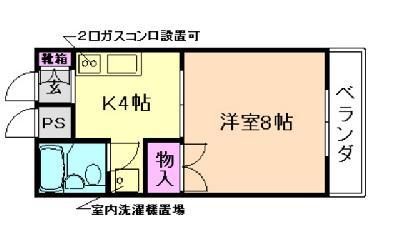 プレジール桜塚 の間取り