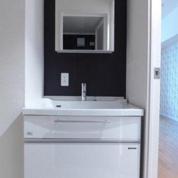 洗面台も大きく、使い勝手は良さそう!