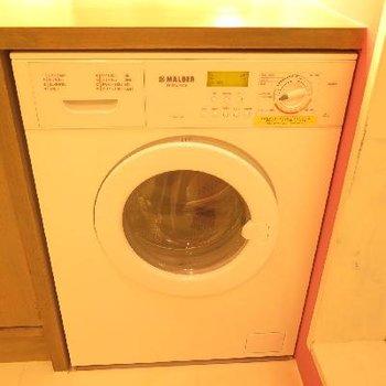 邪魔にならない備え付洗濯機