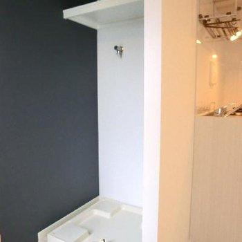 半個室のようになっている洗濯機置き場がタイプ!