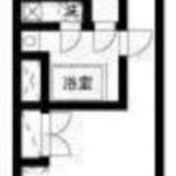 サービスルーム付きのお部屋です。