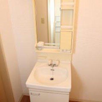 洗面台の隣に洗濯機置き場