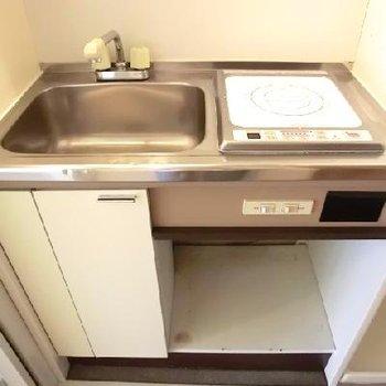 キッチンは小さいです。