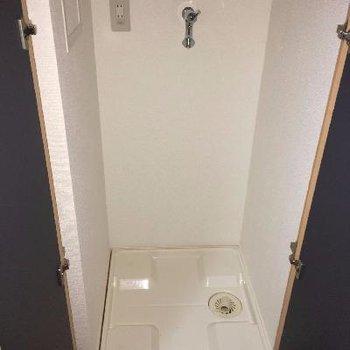 ドア付き洗濯機置場