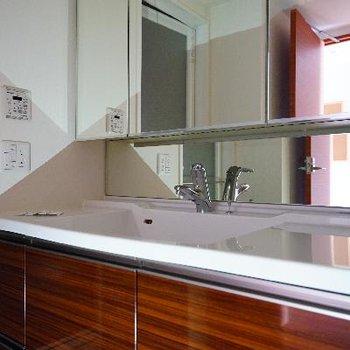 洗面台もゆったり贅沢!