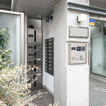 建物入口にはオートロックと宅配ボックスがありましたよ。