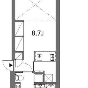 天井が高いので予想以上に広いです。
