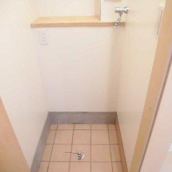 玄関横に洗濯機ですがドアついてますよ!