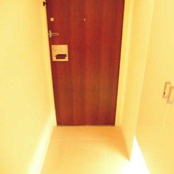 なので、玄関は小さめ