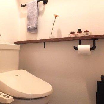 トイレの棚、いいですね!