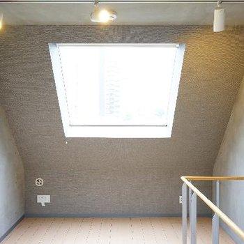 3階のお部屋は壁がななめ!
