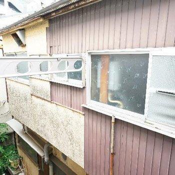 窓の外には外干し用できます!