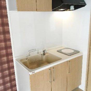 キッチンの設備はとってもシンプル。