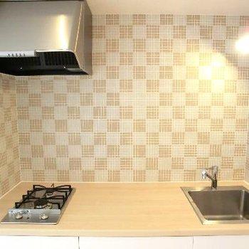 こちらもこの模様♪イタリア製キッチン!