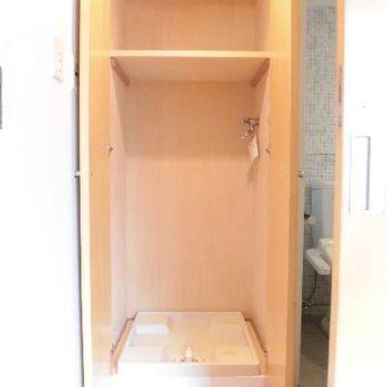 洗濯機って存在感ありますもんね!ドア付きGood