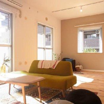【イメージ】無垢床の気持ち良い空間、完成が楽しみですね! ※前回募集時の写真です