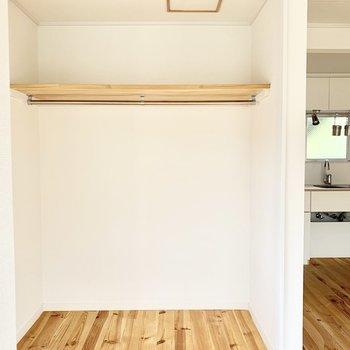 扉がない分部屋を広く感じることができます。