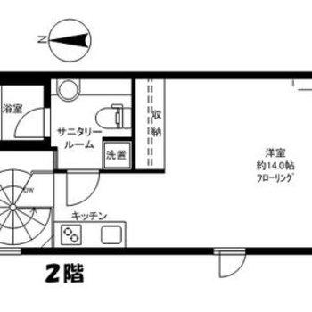 お部屋は1階から入ります。