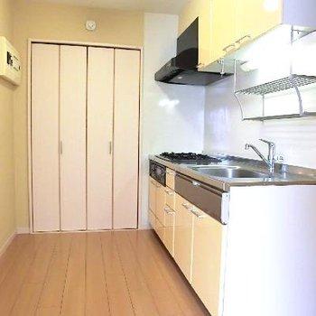 キッチンです!奥の扉は収納ではありません。