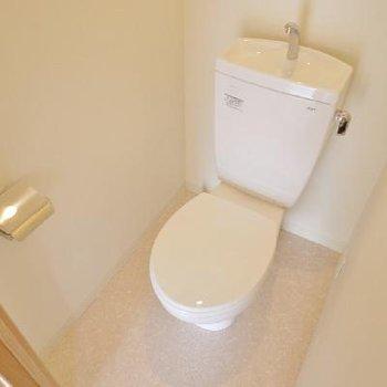 シンプルなトイレ。