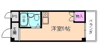 姫島9分マンション の間取り