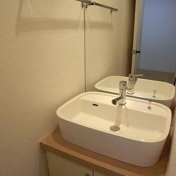 洗面台可愛らしいです。※写真は別部屋