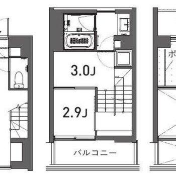 3階建みたいな2階とロフトです!