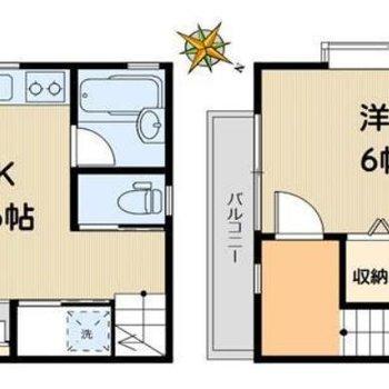 1階2階のテラスハウスです。