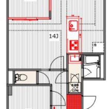 リビングの小さい部屋は書斎にしても良さそうですね〜〜!