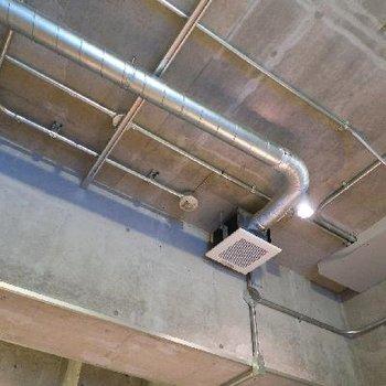 天井を這う配管がイカしてます。※写真は前回掲載時のものです。