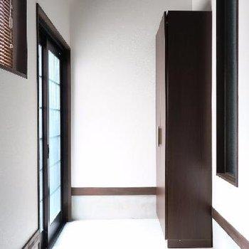 玄関も土間がゆったりめ。