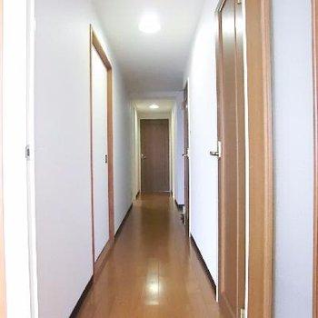 ながーい廊下を通って