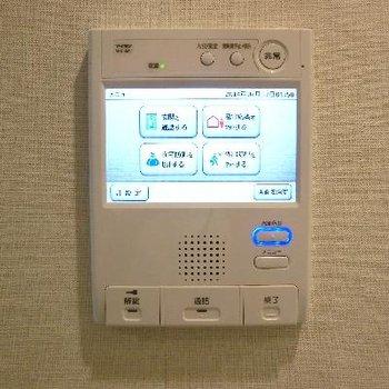 最新式タッチパネルのインターフォン〜。