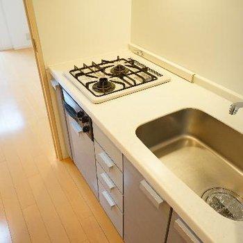 キッチンも2口ガスとグリル付で充実!