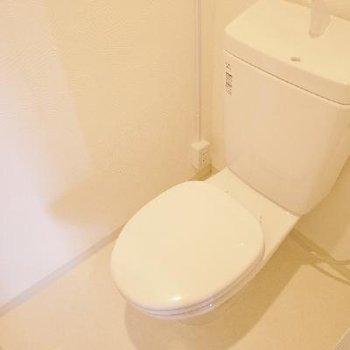 シンプルなトイレ。ウォシュレット欲しかったな~